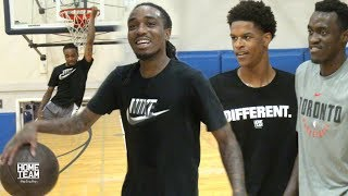 Download Shareef O'Neal & Quavo Vs. NBA & College Players at UCLA Run - Rico Hines Video
