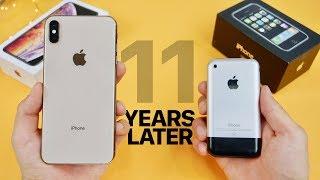 Download iPhone XS Max vs Original iPhone 2G! 11 Year Comparison Video