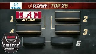 Download College Football Playoff Top 25 rankings: Alabama No. 1, SEC dominates top 6 | College Football Video