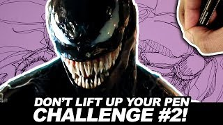 Download Don't Lift Up Your Pen CHALLENGE ROUND 2! DRAWING VENOM! Video