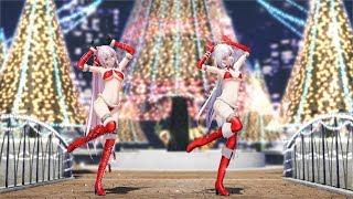 Download 【MMD】ハクとルカがサンタコスで「好き!雪!本気マジック Suki! Yuki! Maji Magic」 4K Video