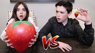Download GIANT SQUISHY FOOD vs REAL FOOD!! Video