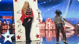 Download See 11 year old Edward Pinder throw knives at Simon Cowell | Britain's Got Talent 2014 Video