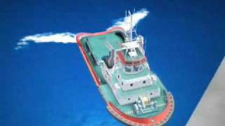 Download Manoeuvring with SHOTTEL STERN DRIVE.tug simulator NAVIEIRA JALISIA. Video