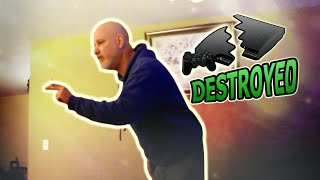 Download LUNATIC DAD DEMOLISHES PLAYSTATION 3 Video
