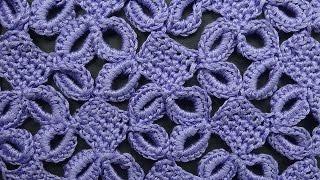 Download Ажурный узор с кольцами Узоры вязания крючком crochet pattern free 77 Video