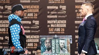 Download WORLDS COLLIDE! FLOYD MAYWEATHER VS. CONOR MCGREGOR FULL FACE OFF VIDEO Video
