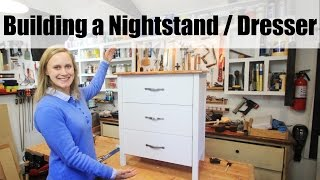 Download DIY Dresser - Nightstand w/ White Base and Stained Fir Top Video
