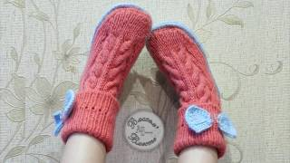 Download Носки-сапожки спицами на войлочной подошве Video