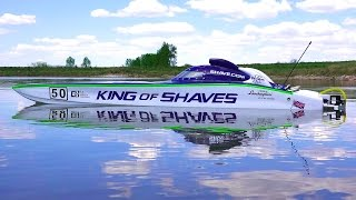Download RC ADVENTURES - 50″ KiNG OF SHAVES - RC Race Boat - 7.4HP Gas Powered Video