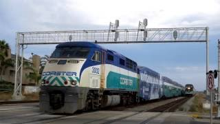 Download Amtrak, Coaster & Sprinter in Oceanside - 6/18/16 Video