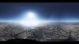 Download 8K 360 Degree Timelapse from the Burj Khalifa Pinnacle Video
