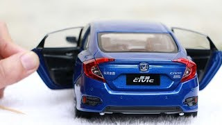 Download Unboxing of Honda Civic 2017 1:18 Scale Diecast Model Car Video