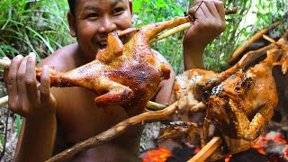 Download Survival Technique Cooking Chicken Recipe for Food - Grilled Chicken for Food eating delicious Video