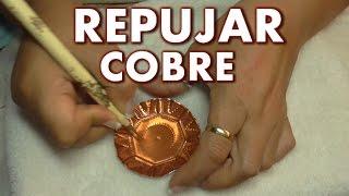 Download COMO REPUJAR PLATILLOS DE COBRE - AS EMBOSSING PLATES OF COPPER Video