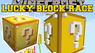 Download Minecraft: GIANT LUCKY BLOCK LUCKY BLOCK RACE - Lucky Block Mod - Modded Mini-Game Video