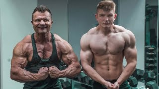 Download CRAZY FATHER & SON CHEST WORKOUT Video