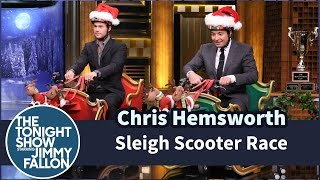 Download Sleigh Scooter Race with Chris Hemsworth Video