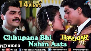 Download Chhupana Bhi Nahi Aata - HD VIDEO | Baazigar | Shahrukh & Kajol | Vinod Rathod | 90's Romantic Song Video