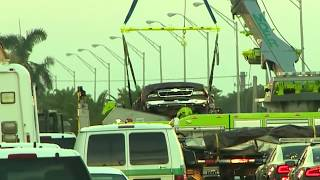 Download First car removed from wreckage of Florida bridge collapse Video