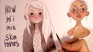 Download Mixing skin tones with watercolors ″How to″ or better ″How i mix″ Tutorial by Iraville Video