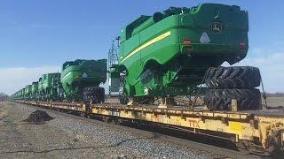 Download BNSF 6198 East- John Deere Combine Train, 4/9/2016 Video