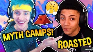 Download NINJA SAYS MYTH'S A CAMPER!! MYTH ROASTS HIM BACK! FORTNITE BEEF! Fortnite SAVAGE Moments! Video