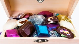 Download Edible Chocolate Jewels & Gems Truffles Covered in Edible Glitter Video