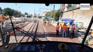 Download Mit der Straßenbahn durch die Tunnelbaustelle in Magdeburg Video