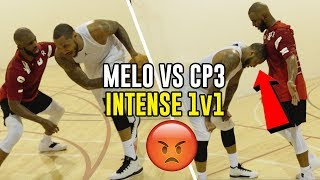Download Carmelo Anthony & Chris Paul GO AT IT In SECRET Vegas Workout! 1 V 1s Get INTENSE 😱 Video