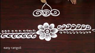 Download latest boder & side rangoli art designs * easy & simple kolam * free hand muggulu Video