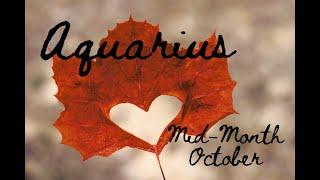 "Download AQUARIUS ""Letting go and loving life"" MID OCTOBER Tarot Reading Video"