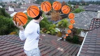 Download IMPOSSIBLE ROOF TOP BASKETBALL TRICKSHOTS!! Video