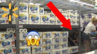 Download INSANE TOILET PAPER FORT IN WALMART! (Kicked Out) Video