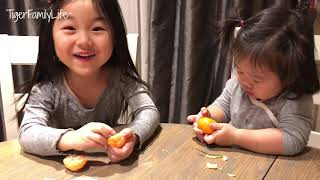 Download Baby Girls Trying Mukbang For First Time Video