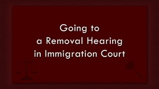 Download Going to a Removal Hearing in Immigration Court Video
