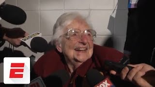 Download Sister Jean reacts to Loyola-Chicago reaching the Final Four | ESPN Video