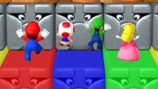 Download Mario Party 10 - Minigames - Peach vs Mario vs Luigi vs Toad Video
