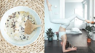 Download My morning routine as a Vegan Yoga Teacher / Yoga, Meditation, Cold Showers & Healthy Breakfast 🦋 Video