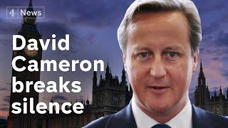 Download David Cameron: Boris Johnson behaved ″appallingly″ during Brexit campaign Video