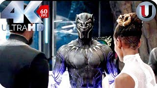 Download Black Panther - ″New Suit″ T'Challa and Shuri - MOVIE CLIP (4K HD) Video