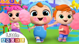 Download Rides at the Theme Park | Little Angel Kids Songs & Nursery Rhymes Video
