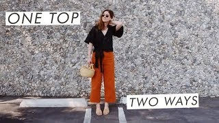 Download One Top Styled Two Ways #ACDOUBLETAKE Thrifted Sustainable Wardrobe Video