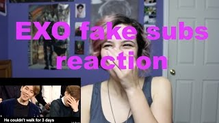 Download EXO fake subs reaction Video