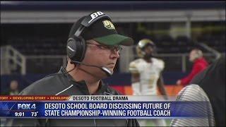 Download DeSoto school board discusses future of football coach Todd Peterman Video