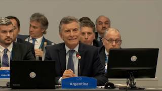 Download Opening remarks by President Mauricio Macri Video