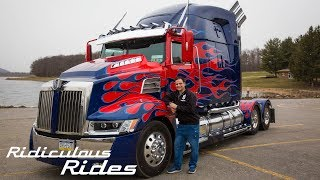 Download World's First Fan-Built Optimus Prime | RIDICULOUS RIDES Video