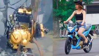 Download Smallbike V-TWIN Engine conversion by BACKYARD MECHANiCS Video