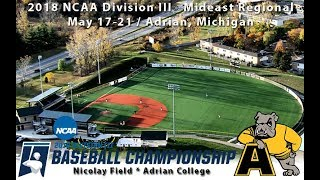 Download 2018 NCAA Division III Baseball Mideast Regionals: La Roche vs. Adrian (Game Eight) Video