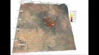 Download Yarnell Hill Fire, simulation of fire spread and wind Video